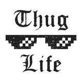 T-shirt print design. Thug Life vintage t shirt stamp. Badge applique, label t-shirts, jeans, casual wear. Vector illustration Royalty Free Stock Photography