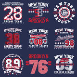 T-shirt Print Designs Set Royalty Free Stock Image