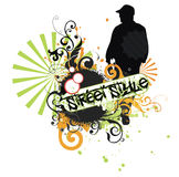 T-shirt print. Motive in urban and street style stock illustration
