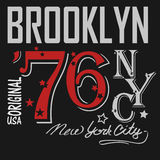 T-shirt Printing Brooklyn, New York, USA - vector Stock Images