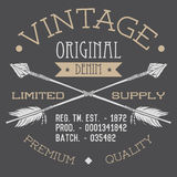 T-shirt Printing design, typography graphics, Vintage original denim vector illustration with crossed arrows hand drawn sketch. Re Stock Images