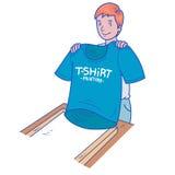 T-shirt printing Royalty Free Stock Photography