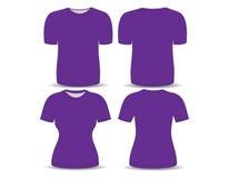T-shirt purple template Stock Photos