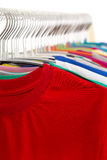 T-Shirt Rack Stock Photography