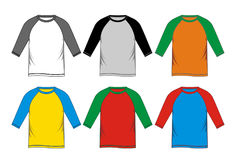 T-shirt Raglan colorful. Vector image Royalty Free Stock Photos