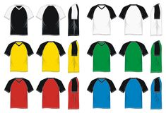 T-shirt raglan sleeve Colorful Royalty Free Stock Photo