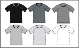 T Shirt Raglan Template, Vector Stock Image