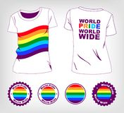 T-shirt with rainbow flag Stock Image