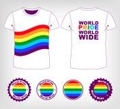 T-shirt with rainbow flag Royalty Free Stock Photo
