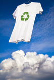 T-shirt with recycle logo drying Stock Photos