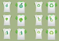 T shirt recycler women & men Stock Photos