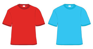 T-shirt red and blue Stock Photography