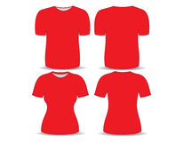 T-shirt red template Stock Photo