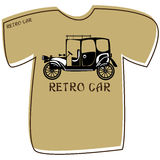 T-shirt with a retro car on white Royalty Free Stock Image