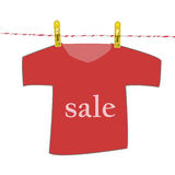 T-shirt sale Royalty Free Stock Photos