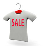 T-shirt for sale promotion concept illustration. T-shirt for sale promotion concept 3d illustration isolated white background Stock Image