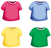 T-shirt set. Illustration of isolated colorful T-shirt set on white background Royalty Free Stock Photo