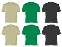 T- shirt set. Black - green. Stock Photos