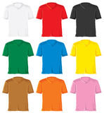 T- shirt set with triangle collar Royalty Free Stock Photography
