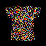 T-shirt shape Royalty Free Stock Photography