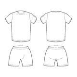 T-shirt and shorts Template for design. Sample for sports clothi Royalty Free Stock Photography