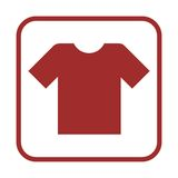 T-shirt sign icon, Clothes symbol Stock Photos