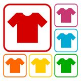 T-shirt sign icon, Clothes symbol Royalty Free Stock Images