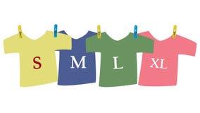 T-shirt Size Royalty Free Stock Image