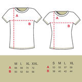 T-Shirt Sizes Royalty Free Stock Photography