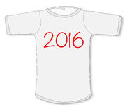 2016 T Shirt. A sleeved T shirt with the legend 2016 Royalty Free Stock Photography