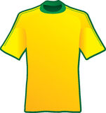 T-shirt of soccer of Brazil Stock Photos