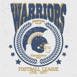 T-shirt Spartan Warrior do futebol ilustração do vetor