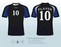 T-shirt sport design template for football club or all sportswear. Stock Photo