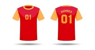 T-Shirt Sportdesign Lizenzfreie Stockbilder