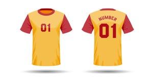 T-Shirt Sportdesign Lizenzfreie Stockfotos