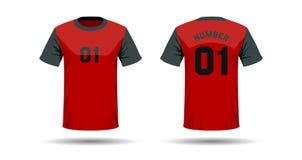 T-Shirt Sportdesign Stockbild