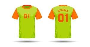 T-Shirt Sportdesign Stockbilder