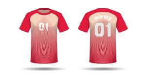 T-Shirt Sportdesign Stockfoto