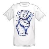 T-shirt & standing bear Stock Photography