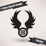 T-Shirt Stencil Design vector illustration. Royalty Free Stock Photos