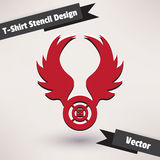 T-Shirt Stencil Design vector illustration. Stock Photos