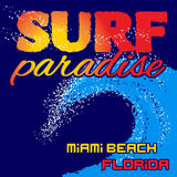 T-shirt surf paradise Stock Photography