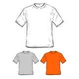 T-shirt template. An original hand drawn blank t-shirt template stock illustration