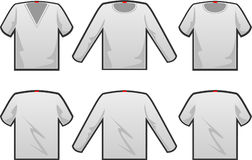 T-shirt template Royalty Free Stock Photography