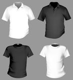 T-shirt template Royalty Free Stock Images