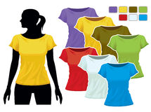 T-shirt template stock illustration