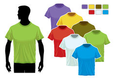 T-shirt template Royalty Free Stock Photos