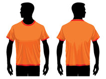 T-shirt template. Men's t-shirt template with human body silhouette Royalty Free Stock Photo