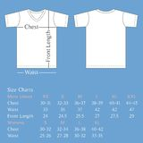 T shirt template back and front with size chart for man and woman Royalty Free Stock Photo