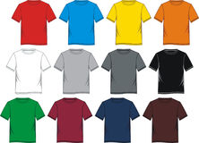T-shirt template blank colorful. Vectors stock illustration